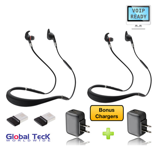 Jabra Evolve 75e Bluetooth Headset Usb 2 Pk Bundle Voip Communications Includes Bonus Charger
