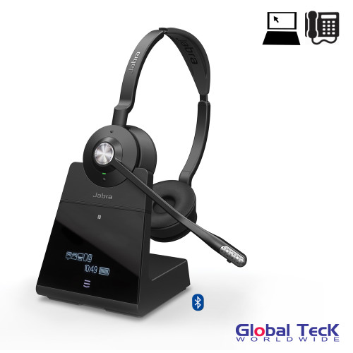 Jabra Engage 65 Wireless Stereo Headset Pc Usb Skype For Business Certified 13 Hour Battery Integrated Busy Light Connect 2 Devices 9559 553 125