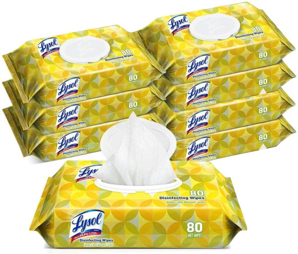 Lysol Disinfecting Wipes, 80 Wipes/Pack