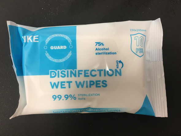 75% ALCOHOL 10 WIPES (NEW)