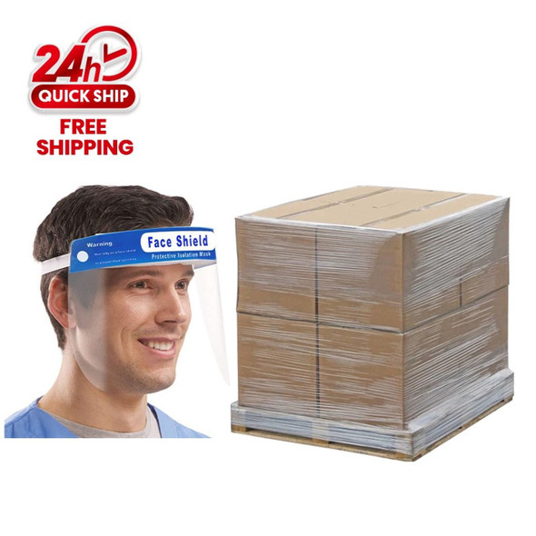 FACE SHIELD 1 PALLET 48''X48''X78''/7500PCS