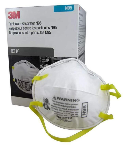 3M 8210 N95 Particulate Respirator, NIOSH approved