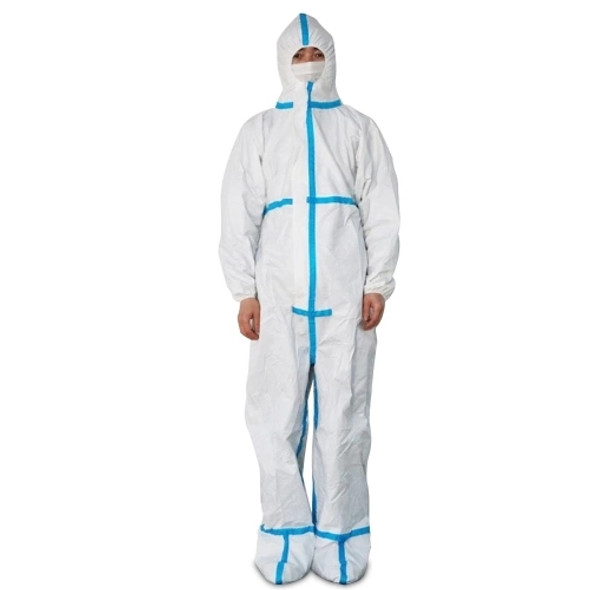 Medical Breathable Coverall Suit Footed Disposable Protective Clothing