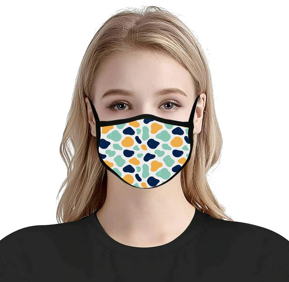 3 Ply Custom Printed Mask (Dye-Sublimated) Adjustable Ear Loop