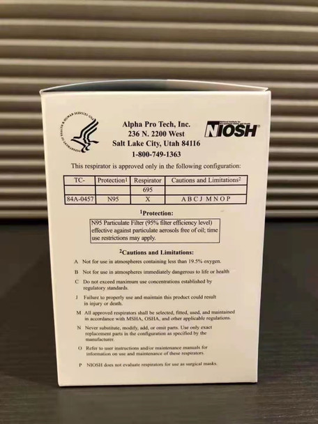 Alpha Protech Medical PFL N-95 NIOSH APPROVED (MADE IN THE USA)