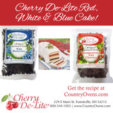Cherry De-Lite  Red, White n'  Blue Pound Cake