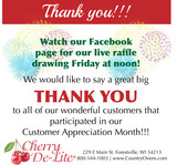 Country Ovens Customer Appreciation Drawing