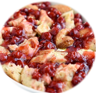 Baked Cherry De-Lite French Toast