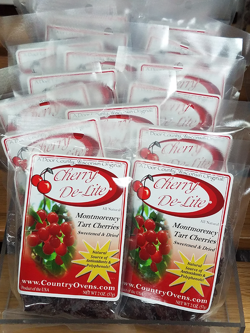 Cherry De-Lite Dried Tart Cherries - 2 oz (CASE of 18)