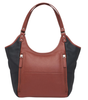 Rich black and brown tones make this bag a real winner