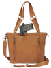 Either short strap or over the shoulder comfortable carry
