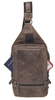 Distressed Buffalo Leather Sling Purse Backpack