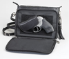 Backside zipper compartment for weapon concealment in this concealed carry purse