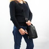 Classic Black is a popular choice of the Delaney Leather Crossbody Purse