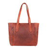 Dark mahogany give the bag great class