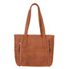 Cognac color gives this bag high style