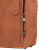 Zippers lock the concealed pocket