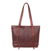 Dark mahogany is a designer color for the Reagan concealed carry purse