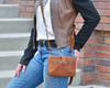 Small cross body concealed carry purse for small pistol