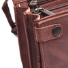 Beautiful leather is used to create this lovely handbag