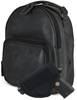 Backpack includes holster that is secured with velcro to inside of concealed pocket