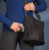 Concealed carry handbag easily manages larger weapon