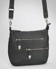 Chrome pulls for sleek design in this concealed carry purse