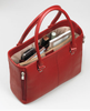 Easy access open top tote with closed side pocket for concealed weapon