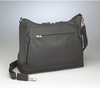Zippered top closures of compartments makes for excellent organization in this concealed carry bag