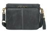 Distressed Buffalo Leather Shoulder Clutch