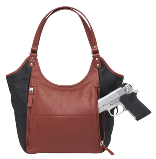 Lovely classic tote with concealed carry capability