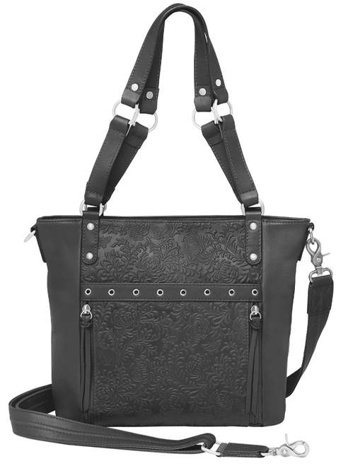 Beautiful debossed design for a traditional concealed carry bag