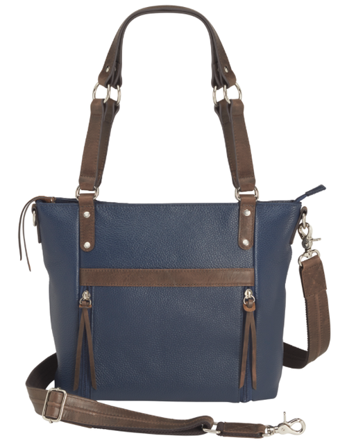 Beautiful debossed design for a traditional concealed carry tote