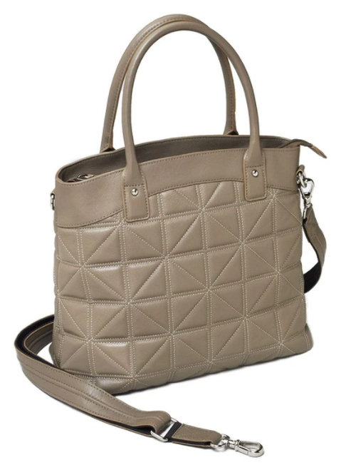 Carry this bag with either short handle or over the shoulder with a longer strap