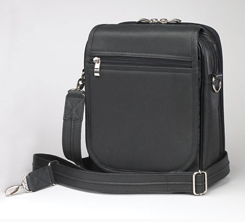 Concealed carry bag has adjustable over-shoulder strap