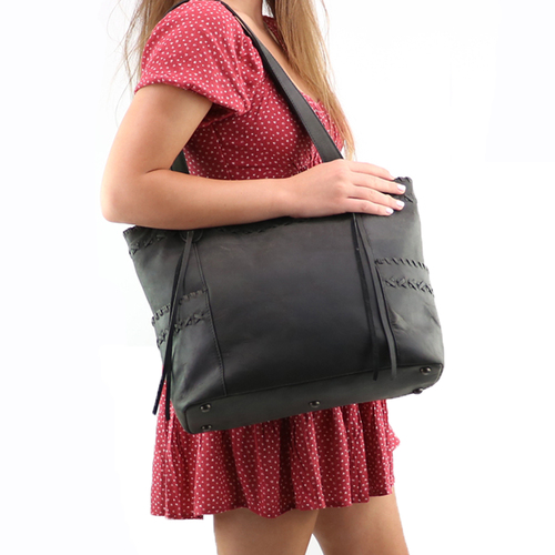 Large over the shoulder concealed carry handbag