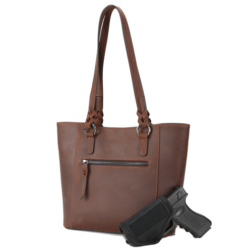 Carry a large frame pistol in the concealed pocket