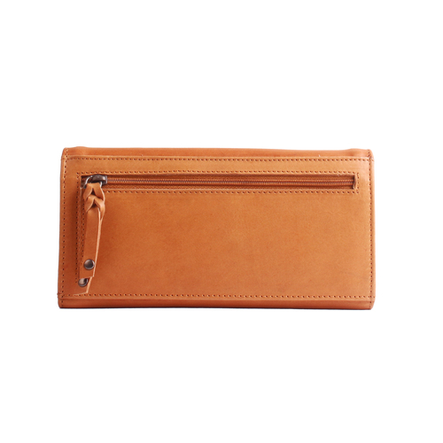 Full grain leather wallet to match with a leather concealed carry purse