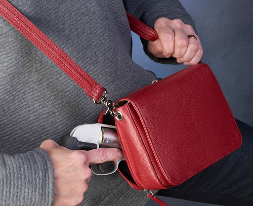 Over the should is a best way to carry concealed