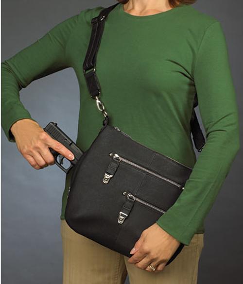 Classic crossbody concealed carry handbag