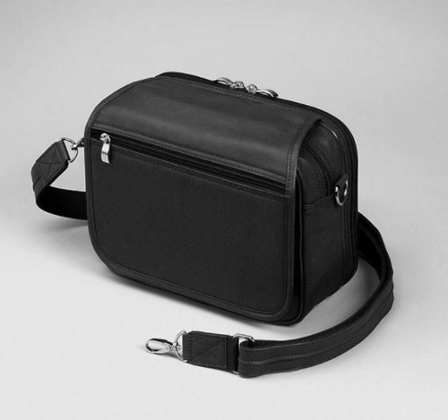 Flap-over design keeps organizer protected in this concealed carry handbag