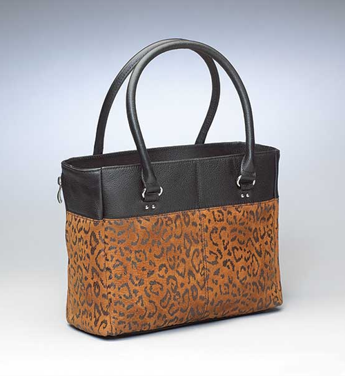 Stylish black and tan for concealed carry elegance