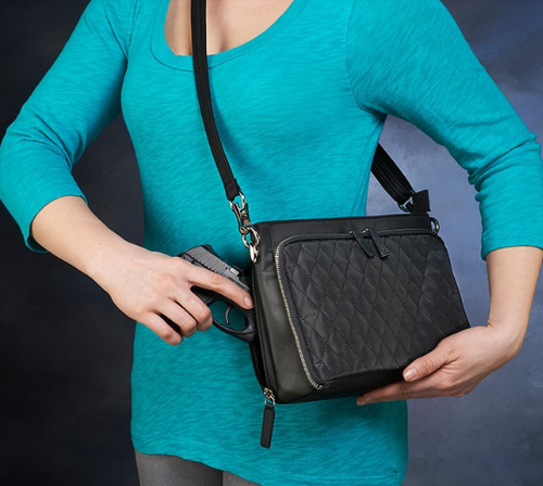 Quilted style for this concealed carry classic goes with any outfit