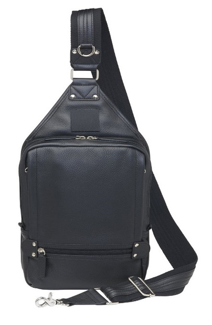 Long adjustable strap for easy comfort from the sling backpack