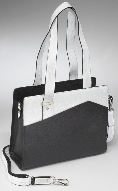 Lovely black and white accents for an everyday concealed purse