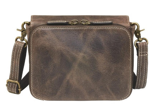 Beautiful distressed leather makes the bag a popular everyday conceal carry