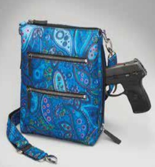 Beautiful Blue Paisley is a Custom Color for Your New Over the Shoulder Bag