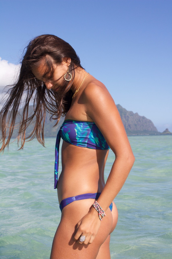 A KAIMANA REVERSIBLE SEXY CHEEKY BRAZILIAN BIKINI BOTTOMS Customize Size & Choose from 50+ Fabrics