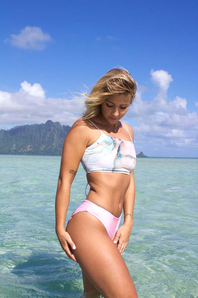 9b783377760 Click here to enlarge. A Lihue REVERSIBLE Halter lace-up All Sizes  Available BATHING suit TopCustomize ...