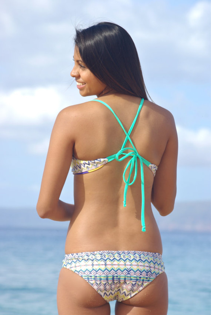 d1cfe34eeb286 Kahekili Cross Back Halter Reversible Bikini Tops Style Customize ...